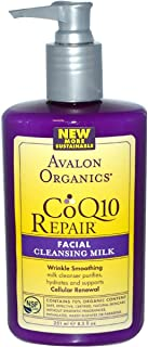 غسول منظف ومجدد للخلايا Avalon Organics, CoQ10 Repair, Facial Cleansing Milk 251 ml