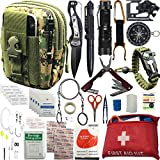 Emergency Survival Kit / Gears + First Aid kit Gifts for Men Son Boyfriend Dad Husband Father's Day 30+ Items in 1; Include Essential Tools for Adventures Camping Biking Hunting Outdoor Hiking