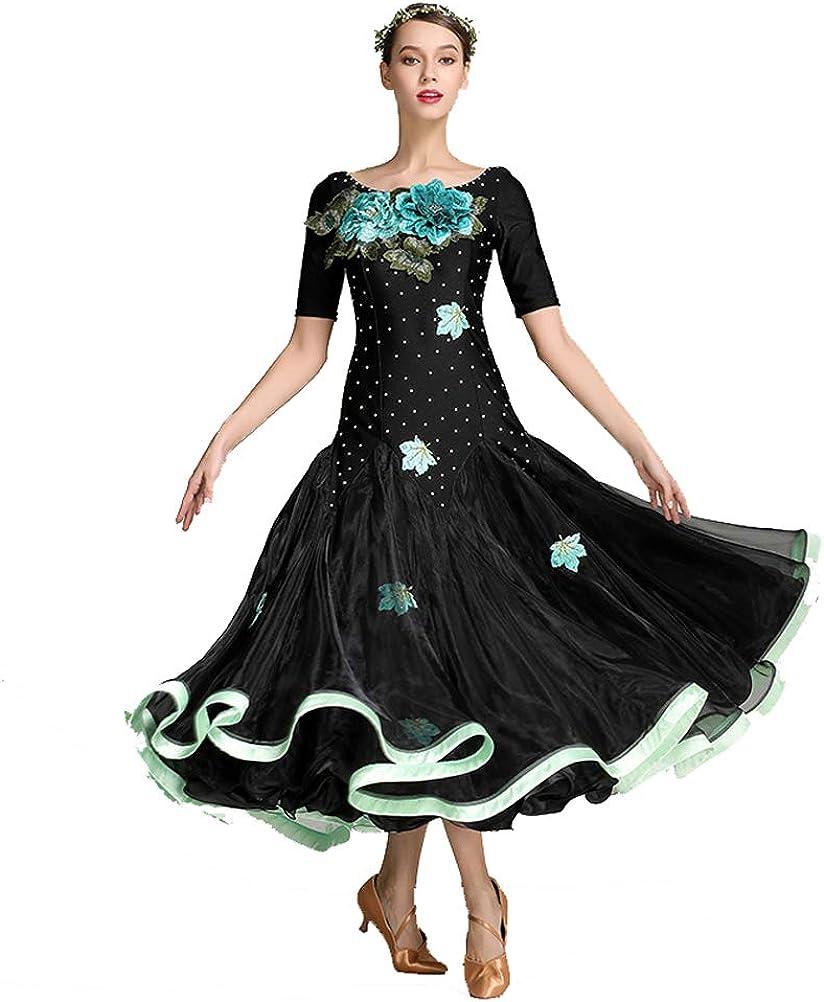 YILINFEIER Women Elegant Flower Embroidery Ultra-Cheap 70% OFF Outlet Deals Modern Dance Ballroom