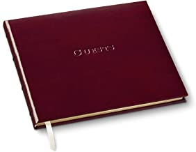 Gallery Leather Guest Book Acadia Burgundy