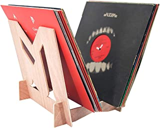 MPK Vinyl Record Storage Holder, Solid Wood Display Stand Environmentally Stylish Record Holder Premium Design to Hold 30 7