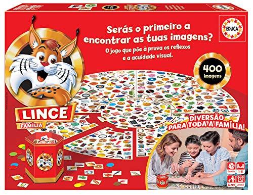 Educa 18403 Lince 400 Imagens. Um Jogo de ação e reflexo para Toda a família. Ref