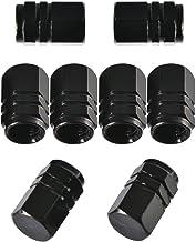 8 Pièces Capuchon de Valve Bouchons de Valve, Forme Hexagonale (Noir)