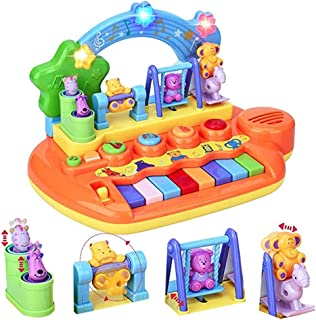 YMDLY Toys Baby Musical Toy Piano with 8 Keys Keyboard Animal Playground Early Education Babies Toddlers Preschoolers Learning Baby Kids Gift Toy Instrument