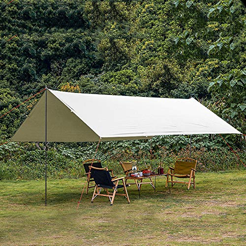 QIANJIN Canopy camping playa ultra grande ultraligero protector solar UV multiusos aluminio poste pérgola (400 x 300 cm)