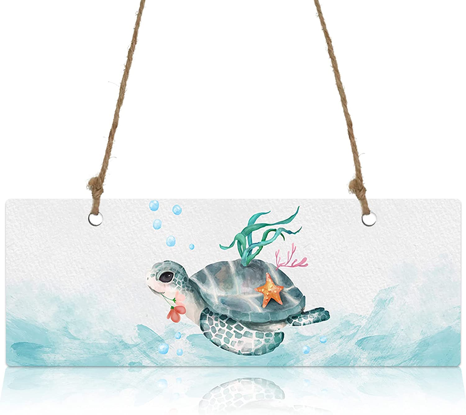 SEAL limited product Wall Sign Wood Plaque Watercolor Animals Welcome High quality new Turtle Sea