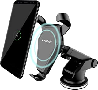 Wireless Fast Charger Car Mount Qi for Samsung Galaxy S8, S7/S7 Edge, Note 8 5 & Standard Charge for iPhone X, 8/8 Plus & Qi Enabled Devices & other Smartphone