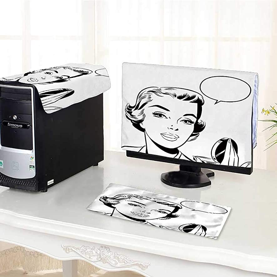 UHOO2018 Computer Keyboard Dust Cover 3 Pieces pop Art Woman Mirror dust Cover Computer case /22