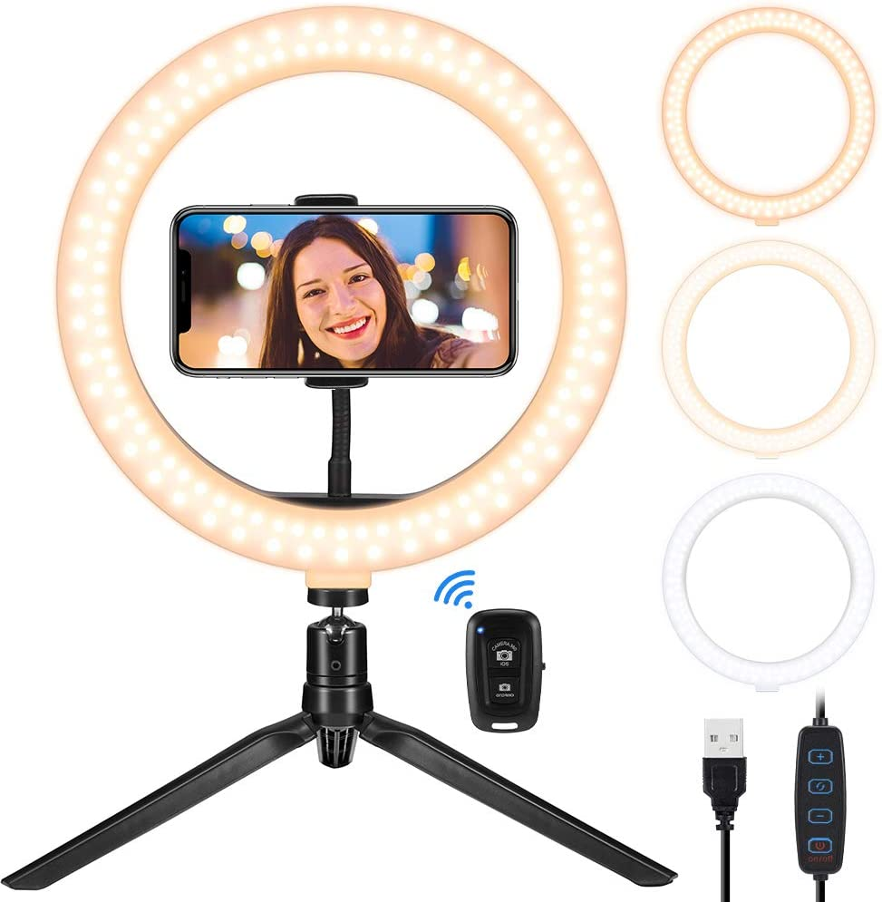 Tesoky Ring Light Popular products Shipping included with Stand Phone Selfie Holder and
