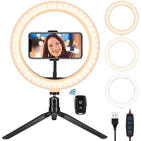 Led Ringlicht Mit Stativ 10 2 Zoll Selfie Ringleuchte Kamera