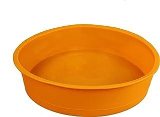 GMMH Moule à pâtisserie Rond en Silicone Ø 26 cm Moule à gâteau Moule à Pain Boîte à Fruits (Orange)