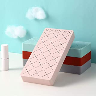 Lipstick Holder, Silicone Cosmetic Makeup Organizer for Brush Lip Eye Makeup Pencil Bottles More, 24 Square Makeup Display Case by WARMITORY - Baby Pink