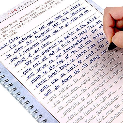 VODVO LIU Pin Tang 3pcs módulo de Copia de Escritura Inglés Hengshui caligrafía for los Hijos Adultos Ejercicios Libros caligrafía Practice Book