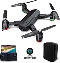 Dragon Touch DF01G Foldable GPS Drones for Adults, FPV Camera Drone HD 1080P with Background Music, Auto Return Home, Foll...
