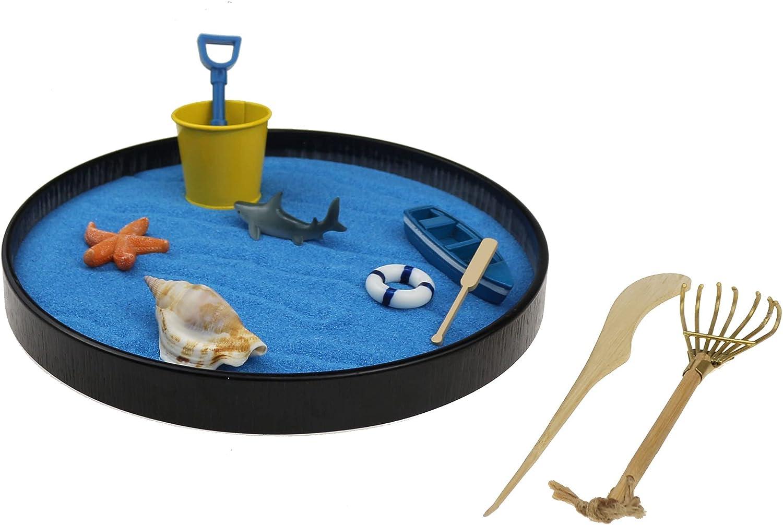 Mini Japanese Desktop Zen Garden Sea Ranking TOP4 Special sale item Life Des Ocean A Day at The