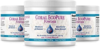 Coral LLC - Ecopure Pure Coral Calcium Powder (16 Ounce 3 Pack)