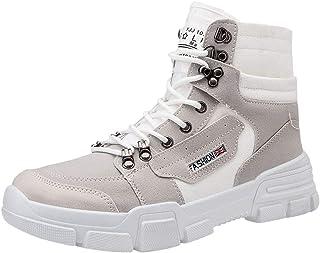 Boots Homme Cuir Pas Cher Mode Automne Hiver éLéGant Talon Plates Bottines Chelsea Bottes A Lacets Hautes Chaussure