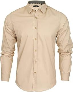 BRAVE SOUL Mens Plain Shirt Tudor' Long Sleeved