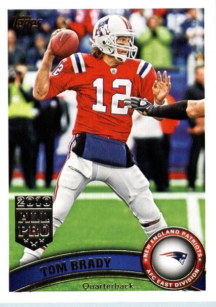 Amazon.com : 2011 Topps Football Card # 400 Tom Brady / (red ...