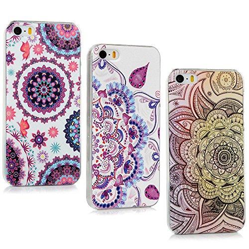 Lanveni - 3 cover rigide per iPhone 5 5S 5G / iPhone SE