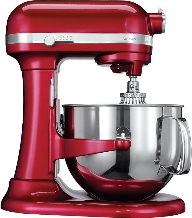 Robot da cucina con sollevamento ciotola artisan da 6,9 l kitchenaid 5ksm7580xeca