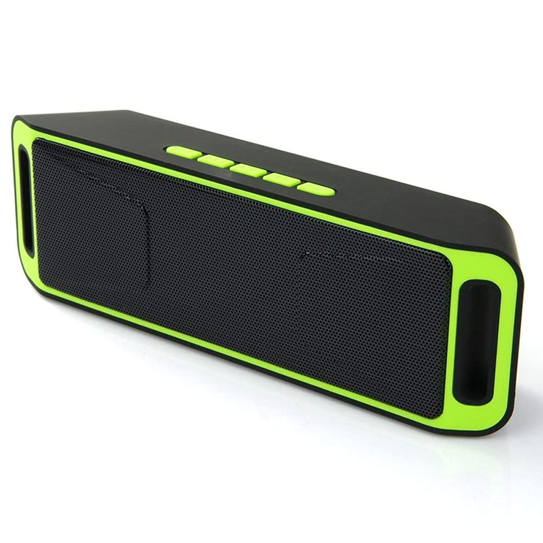スワップビート漏れポータブ Bluetoothスピーカーステレオワイヤレススピーカーはほとんどのスマートフォン用のハンズフリーFMラジオUSB TFカードマイクをサポート (Color : Yellow)