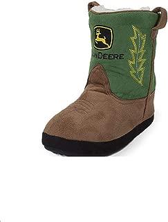Toddler Green Tan Boot Slipper Large (9-10)