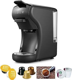 HiBREW 4-in-1 Multi-Function Espresso Dolce Gusto Machine Compatible with Nespresso Capsule, Dolce Gusto Capsule and Groun...