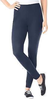 Women's Plus Size Petite Stretch Cotton Legging