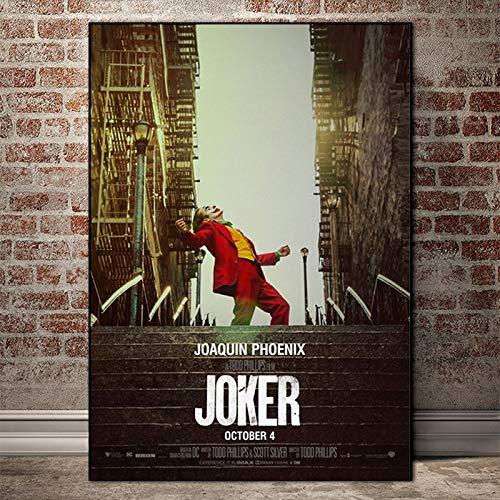 KWzEQ Filmstar Clown Wandkunst Wandkunst Poster und Drucke auf Leinwand,Rahmenlose Malerei,50X75cm
