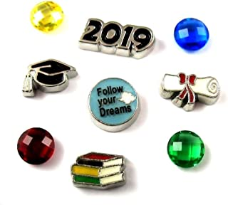FCL Designs - Graduation 2019 Theme #2 Floating Charms Combination for Lockets