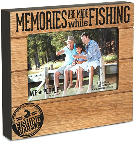 Pavilion Gift Company 67219 We People Fishing People Frame, 7-1/2 x 6-3/4""