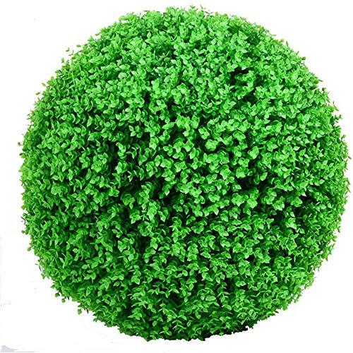 Kooshy Bolas de Topiario Artificial Bolas de Plantas de Plástico Bolas de Hierba de Topiary Bolas de Plantas Artificiales de Interior Al Aire Libre Decoración de Fiesta