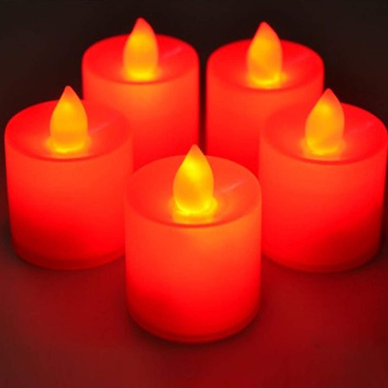 24 Piezas Velas Sin Llama Parpadeantes Vela Luz Led Funciona con Pilas de Larga Duraci/ón para Bodas Proponer Navidad Celebraci/ón de A/ño Nuevo Luz Rojo Migaven Velas Led