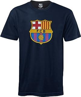 FC Barcelona Official Football Soccer Gift Mens Crest T-Shirt Navy