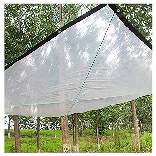 SHIJINHAO Rainproof Tarp, 120gsm Waterproof Plastic Film Tear Resistance Buttonhole Spacing 0.5m With Grommet And Nylon Rope Suitable For Camping Sites, Shelter, Balcony,20 Sizes