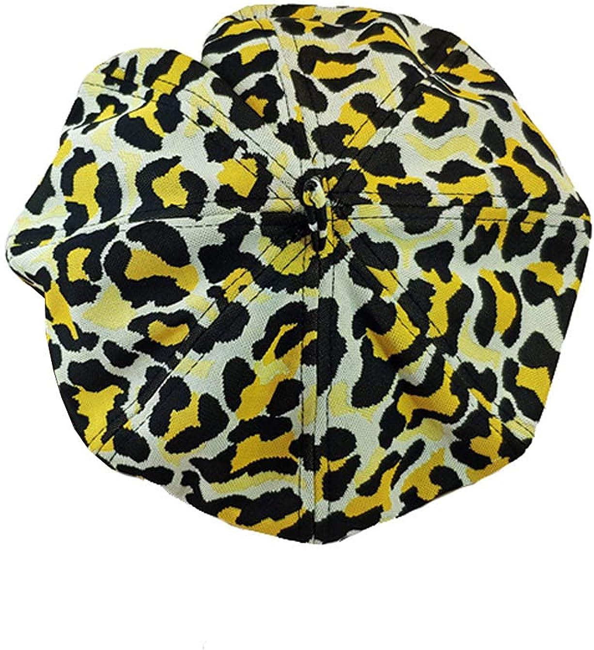YueLian Leopard Beret Beanie French Hat for Women Ladies Artist Hats