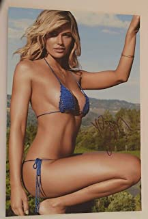 Samantha Hoopes Signed Autographed 10x15 Photo Sexy Hot SI Swimsuit Model COA VD