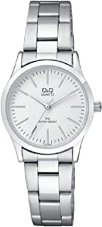 Q&Q Women's White Dial Stainless Steel Band Watch - C213J201Y, Analog Display