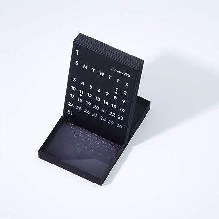 JACKAL クララ デスクカレンダー 2021 ブラック 卓上カレンダー