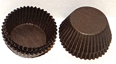 #5 أكواب حلوى ورقية بنية 1000 عبوة من لوازم صنع الحلوى