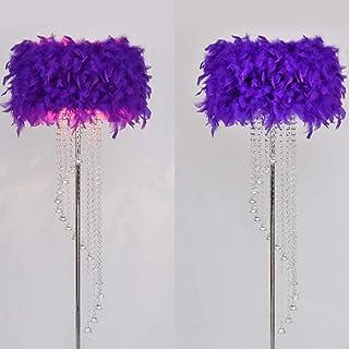 N /A Lampes de sol modernes et minimalistes pour chambre à coucher, salon, hôtel, plume en cristal 0624P Couleur : rouge f...