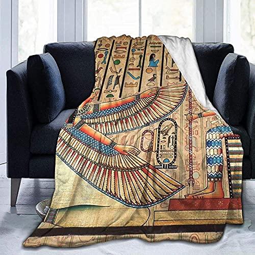 Manta de manta de tela egipcia antigua, ultra suave, suave, acogedora manta de cama para cama, sofá, sala de estar, playa, picnic, otoño, primavera, invierno, utilidad B