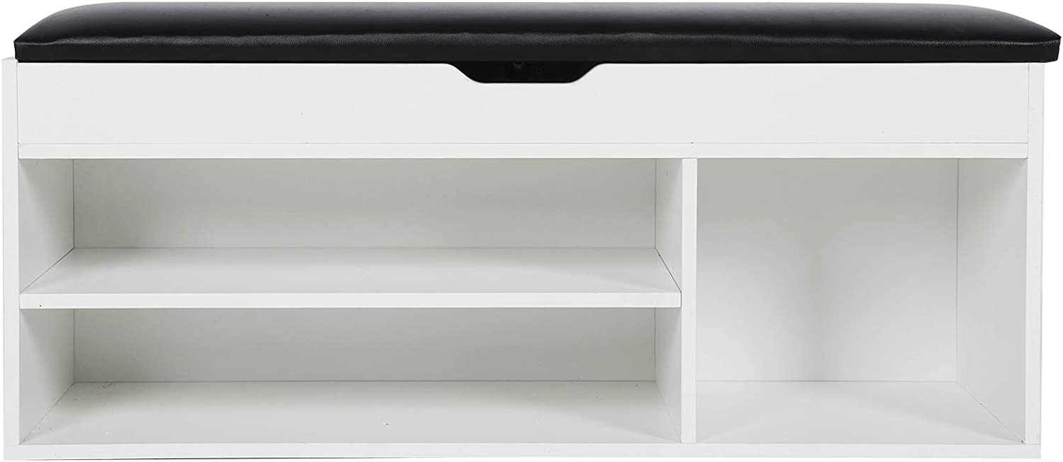 Bench With Shoe Storage Wooden 2-Tier S Cushion Max Ranking TOP12 41% OFF with Rack