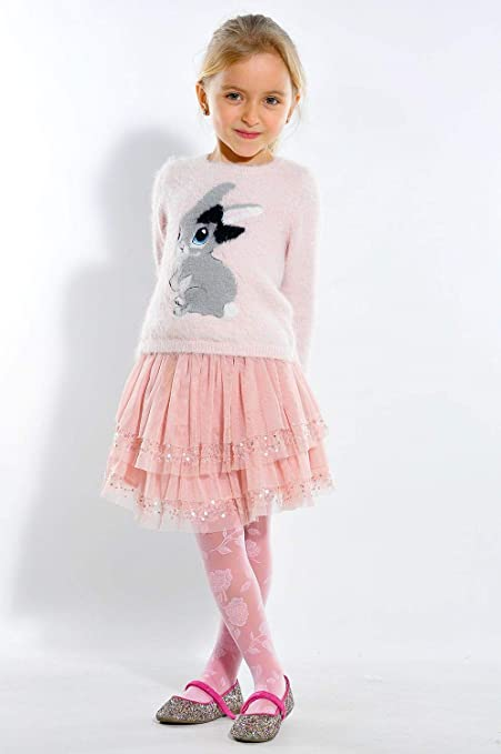 Lady Kama Kids Girls Patterned Pantyhose 30 den Rose Motive