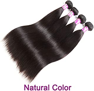 Blonde Brown Ombre Hair Bundles Brazilian Straight 4 Bundles Deal Remy Weave Human Hair Extensions,10 10 10 10,Natural Color