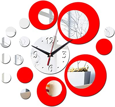 Silent Mechanism Cloudnola Rubik Silver Wall Clock Great for Kitchens Diam 8 Inches Bedroom and Office Living Rooms