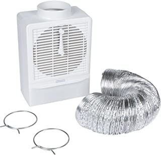 Indoor Lint Trap Filter - Indoor Dryer Vent Kit with 8' Hose & Clamps for Electric Dryers