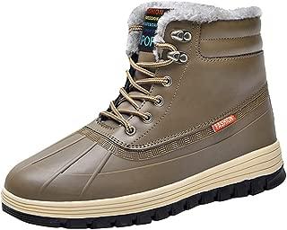 Men's Outdoor Plus Velvet Warm Cotton Ankle Boots Waterproof Comfortable Snow Bootie