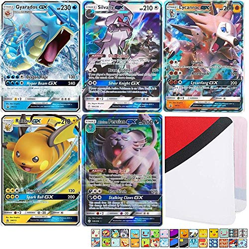 Totem World 5 GX Pokemon Cards and Totem Mini Binder - No Duplicates